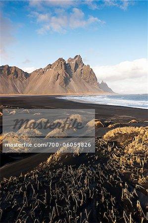 Volcanic Beach and Mountains, Hofn i Hornafiroi, Iceland