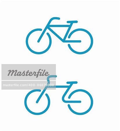Illustration vectorielle des icônes de vélo Simple