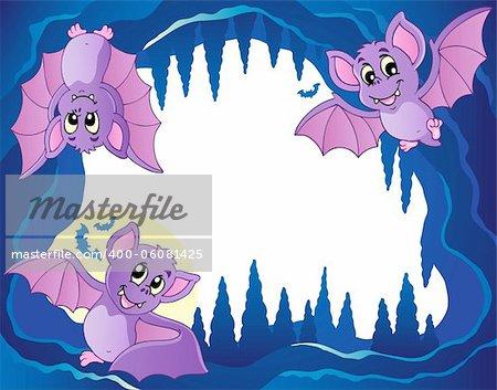 Bats theme image 3 - vector illustration.