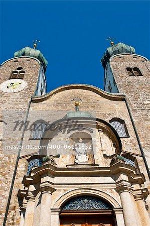 Church Stiftskirche in Bavarian City of Baumburg , Germany