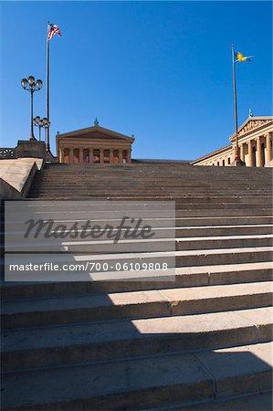 Steps at Philadelphia Museum of Art, Philadelphia, Pennsylvania, USA