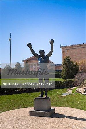 Rocky Statue, Philadelphie, Pennsylvanie, Etats-Unis
