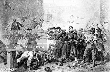 DES ANNÉES 1800 ANNÉES 1860 AVRIL 1861 6 BÉNÉVOLES MILICIENS DU MASSACHUSETTS EN PASSANT PAR BALTIMORE