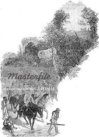 ANNÉES 1860 1863 RETRAITE GÉNÉRALE ROBERT E LEE ARMÉE DE VIRGINIE DU NORD APRÈS LA BATAILLE DE GETTYSBURG, GUERRE DE SÉCESSION