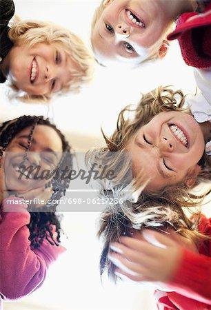 Portrait de happy friends