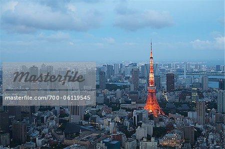 Tour de Tokyo, Shiba Park, Tokyo, région de Kanto, Honshu, Japon