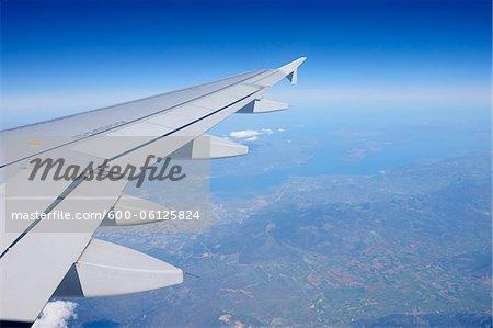 Flugzeug Flügel, fliegen über Europa