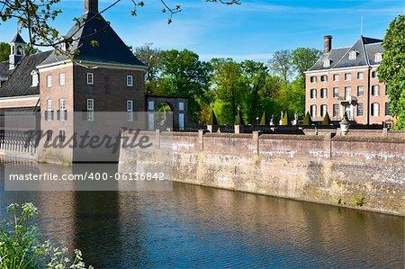 The Medieval Castle Amerongen in Netherlands