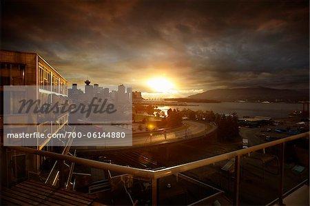 City Skyline at Sunset, Vancouver, British Columbia, Canada