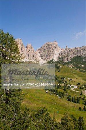 Grödnerjoch und Sellagruppe, Val Gardena, Südtirol, Trentino Alto Adige, Italien