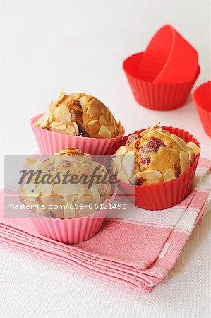 Muffins aux canneberges avec amandes effilées