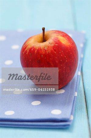 Ein Bio-Apfel (Sorte: Cortland)