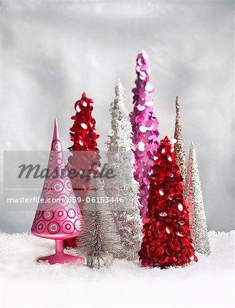 Collecte de sapins de Noël décorative