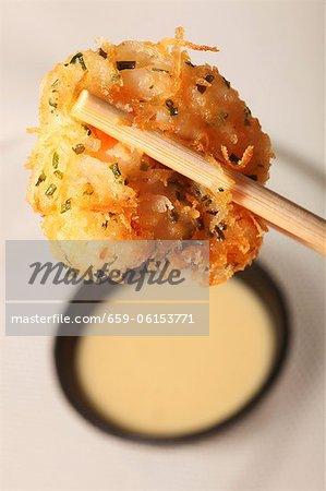 Croquettes de crevettes et de baguettes