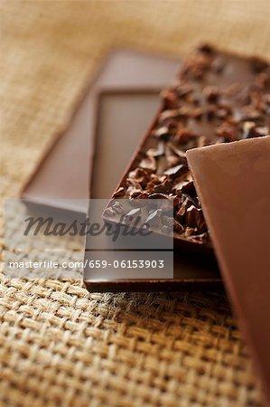 Assortierte Schokolade Bars