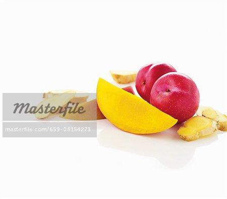 Mango, Pflaumen und Ingwer