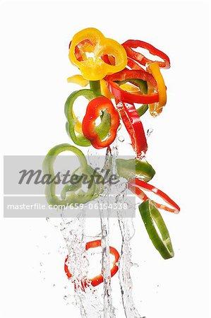 Anneaux colorés poivre laver