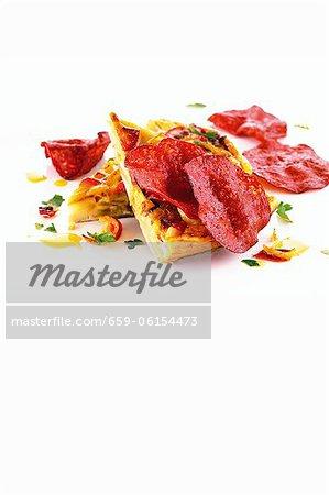 Tortilla de pommes de terre avec chorizo de Pampelune (Espagne)