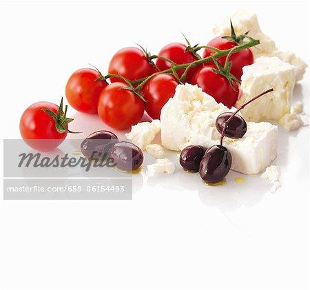 Feta, tomates cerises et olives