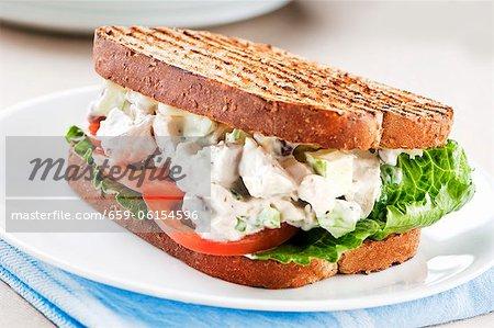 Chicken Salad Sandwich on Grilled Wheat Bread