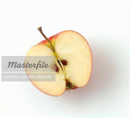 La moitié d'une pomme, vue d'en haut