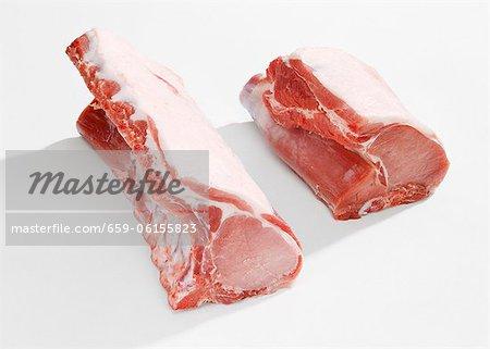 Longe de porc pour les côtelettes