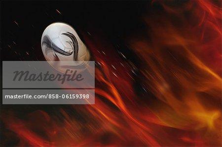 Fußball und Flammen