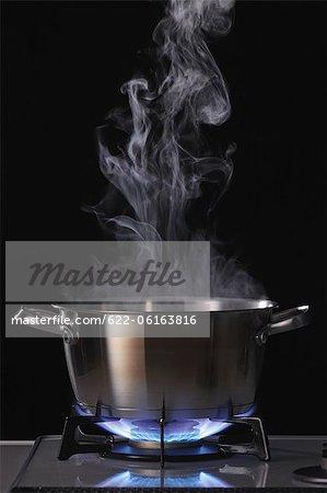 Fumée émettant du Pot de cuisson