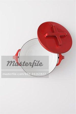 Red Empty Pot