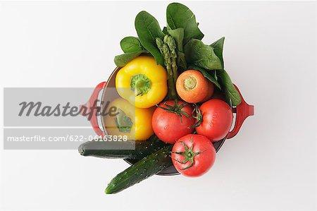 Frisches Gemüse im Topf