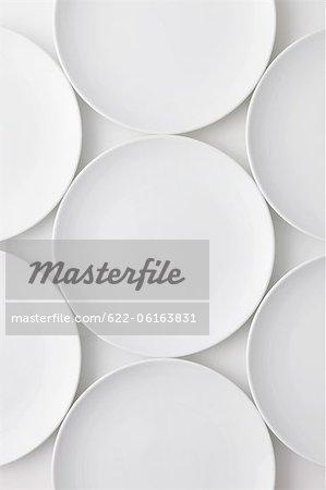 Arrangement Of Empty Plates, Overhead View