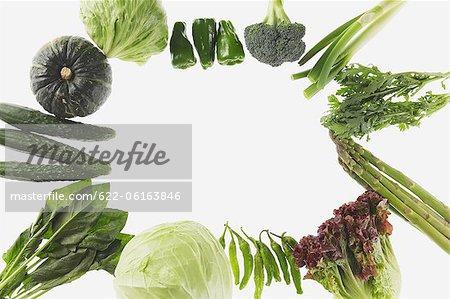 Design Of Green Vegetables