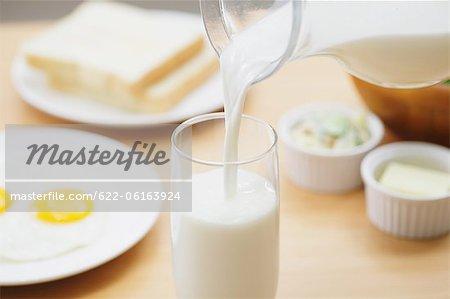 Lait au petit déjeuner