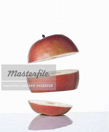 Nahaufnahme von Scheiben Apfel