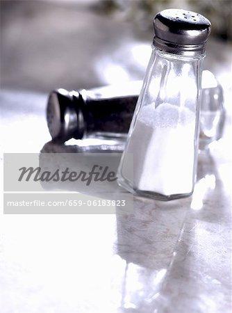 Salt and Pepper Shakers; Pepper Shaker Tipped Over
