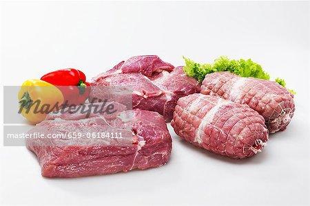 Roulé de porc et escalopes de porc