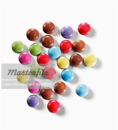Fèves de couleur chocolat