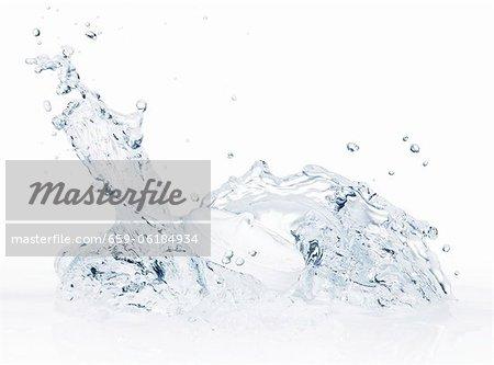 A cream jar in water