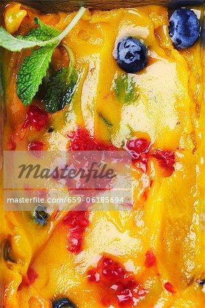 Homemade Mango and Berry Sorbet