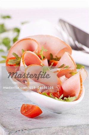 Jambon à la roquette et tomates