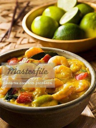 Curry de crevettes (thaï)