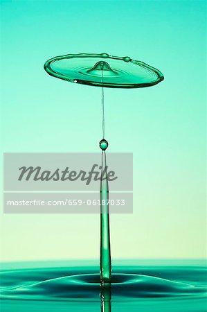 An artistic shot of water drops