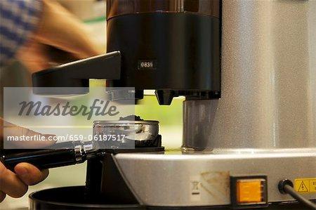 Barista Espresso machen