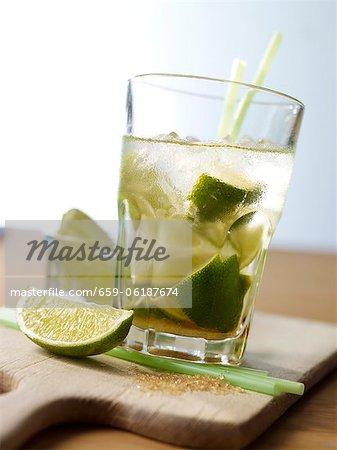 Caipirinha with lime