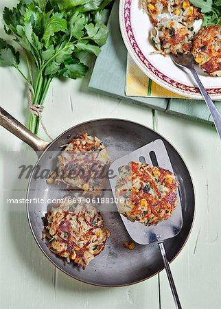 Globes de maïs de pommes de terre persillées