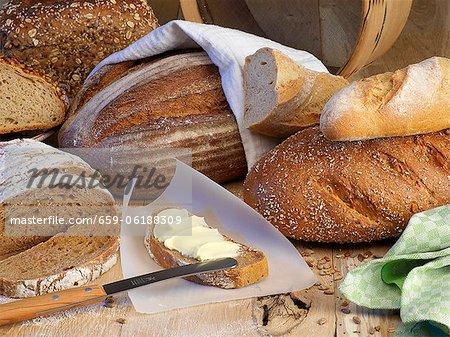 Un arrangement de pain