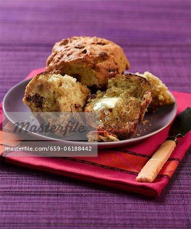 Rosinen und Zimt muffins
