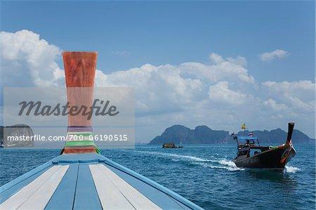 Boats near Koh Ngai, Trang, Thailand