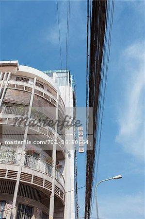 Hôtel et appartement bâtiment, Phnom Penh, Cambodge