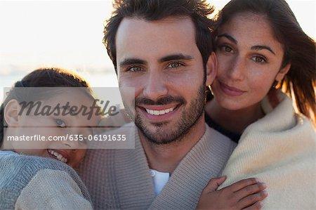 Porträt der Familie lächelnd hautnah